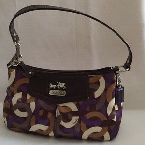 Coach Bag Madison Small Op-Art Top Handle Pouch